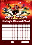 Personalised Power Rangers Reward Chart (adding photo option available)
